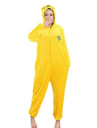Kigurumi Pajamas Jack Dog Leotard/Onesie Halloween Animal Sleepwear  Yellow Solid Polar Fleece Kigurumi Unisex Halloween