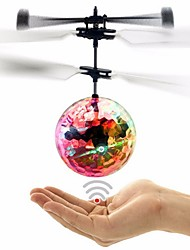 Creative Fashion Colorful Induction Suspension Transparent Crystal Ball Floating Infrared Induction RC Helicopter Toys
