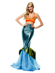 Women's Stripper  Cosplay Mermaid Tail Fancy Dress Costume