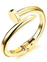 Women's Fashion Jewelry Nail Steel Gold Silver Plated Bangles Casual/Daily Gift Bracelet Accessories