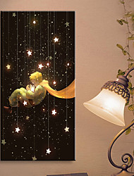 E-HOME® Stretched LED Canvas Print Art The Stars And The Boy LED Flashing Optical Fiber Print One Pcs