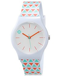 Kids' Wrist watch Colorful Quartz Plastic Band Candy color Cool Casual Orange Strap Watch