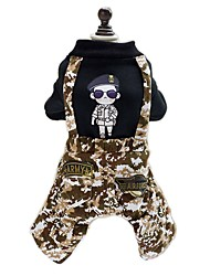 European Style  Camouflage Jumpsuits Clothes for Pet Dog Cool Clothes