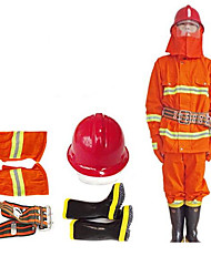 Firefighters Extinguishing Fire Retardant Protective Clothing And Equipment  Size 180
