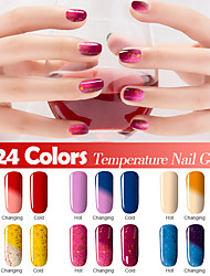 Nail Polish Gel UV 7ml 1 soak Off / Purpurina / Gel de Côr UV / Gelinho / Neutro / Cintilante Mergulhe off de Longa Duração