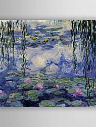 Dipinta a mano Paesaggi Dipinti ad olio,Modern Un Pannello Tela Hang-Dipinto ad olio For Decorazioni per la casa