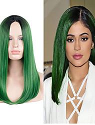 Perucas Capless Perucas para mulheres Verde Costume Wigs Perucas Cosplay
