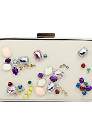 L.west Women Elegant High-grade Acrylic Jewels Evening Bag