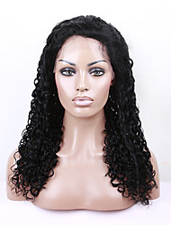 12-26 Inch Brazilian virgin human hair curly wave lace front wigs human hair small curl medium brown wig for women