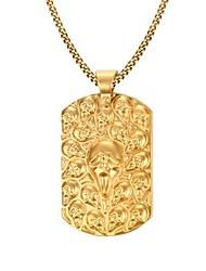 Gold Medal GhostThe King 18K Gold Necklace Men