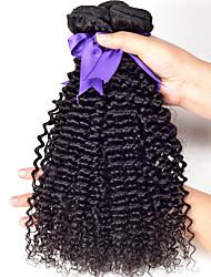7A Grade Unpressed Brazilian Curly Wavy Weft Hair Brazilian Curly Virgin Human Hair 3 Bundles  100g