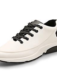 Femme-Extérieure / Sport-Noir / Blanc / Gris-Talon Plat-Confort / Ballerines-Sneakers-Similicuir