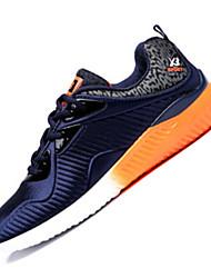 Femme-Extérieure / Sport-Noir / Bleu / Gris-Talon Plat-Confort-Sneakers-Tissu