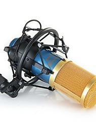 Broadcasting Recording Microphone Mic Karaoke Studio Blue  Gold