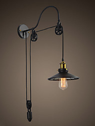 Tray 1-Light Adjustable Swan-neck Industrial Wall Light &Saucer Shade Chandelier