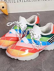 Unisexe-Décontracté / Sport-Vert / Rouge / Blanc-Plateforme-Confort / Bout Arrondi-Sneakers-Similicuir
