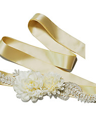 Bride wedding pearl flower belt.