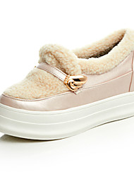 Women's Loafers & Slip-Ons Spring / Fall / Winter Comfort / Round Toe / Flats / Fleece Dress / Casual Flat Heel Jewelry
