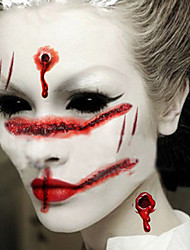 2pcs Hot Halloween Makeup Decoration Costume Zombie Scar Temporary Tattoos