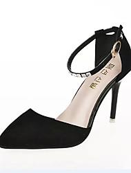 Women's Heels Spring / Summer / Fall Heels  Dress / Casual Stiletto Heel Hook & Loop Black / Purple Walking