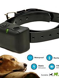 Dog Bark Collar / Dog Training Collars Anti Bark / Waterproof / Shock/Vibration / Rechargeable Solid Black Plastic / TPU
