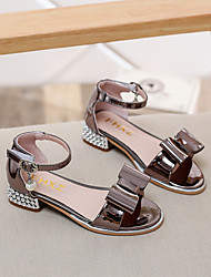 Girl's Sandals Summer Sandals PU Casual Low Heel Bowknot Silver / Gold Others