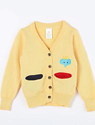 Mädchen Pullover & Cardigan-Lässig/Alltäglich einfarbig Baumwolle Herbst Gelb