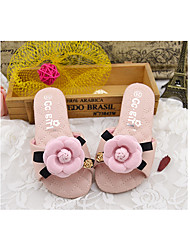 Girl's Slippers & Flip-Flops Summer Slippers Microfibre Casual Flat Heel Flower Blue / Pink Others