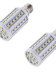 8 E26/E27 Lâmpadas Espiga A60(A19) 60 SMD 5050 560 lm Branco Quente Decorativa AC 220-240 V 2 pçs