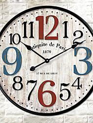Модерн Прочее Настенные часы,Круглый Прочее 30*30cm*3cm В помещении Часы