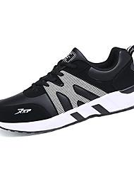 Femme-Sport-Noir et rouge / Noir et blanc-Talon Plat-Confort / Bout Arrondi-Sneakers-Polyuréthane