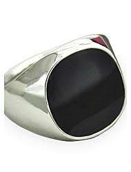 Муж. Массивные кольца Сапфир Драгоценный камень Естественный черный По заказу покупателя бижутерия Мода Винтаж Панк Простой стиль