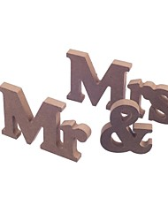 Wooden MR & MRS bridal log lubricious DIY wooden letters wedding furnishing articles