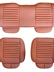 Wear Three-Piece Charcoal Leather Car Seats Five Sit Backless Seat Cushion Four Seasons General