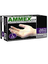 PVC Powder-free Disposable   Oil Proof  Food  Gloves Size L