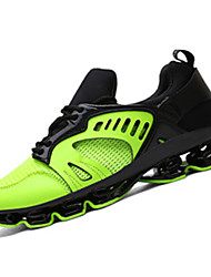 Unisex-Tacón Plano-Confort-Zapatillas de deporte-Informal-PU-Negro Plata Oro