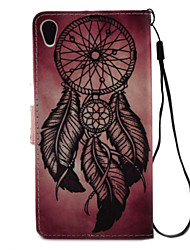 For Xperia X XA XP XZ Case Cover Dreamcatcher Pattern Painting PU Leather Material Card Stent