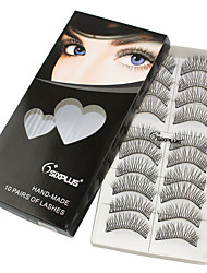 1 Eyelashes lash Full Strip Lashes Eyelash Crisscross Lifted lashes Manual Fiber Black Band 0.05mm 9mm