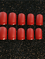 24PCS/SET  Nail Strips Scarlet Frosted Texture Sexy Mature
