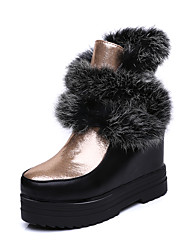 Women's Boots Fall / Winter Platform Fur / Patent Leather / Leatherette Party & Evening / Dress / Casual Platform Fur