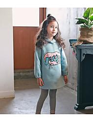 Girl's Casual/Daily Print Dress / Hoodie & SweatshirtPolyester Fall Green