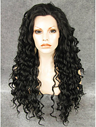 IMSTYLE 26Cheap Long Curly Natural Looking Heavy Density Synthetic Wigs Lace Front Dyeable