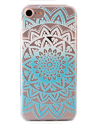 For iPhone 7 Case / iPhone 7 Plus Case / iPhone 6 Case Pattern Case Back Cover Case Lace Printing Soft TPU AppleiPhone 7 Plus / iPhone 7