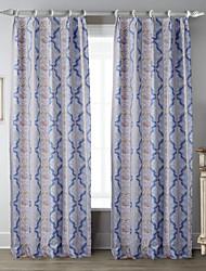 Un Panneau Le traitement de fenêtre Designer , Courbe Salle de séjour Polyester Matériel Rideaux Tentures Décoration d'intérieur For