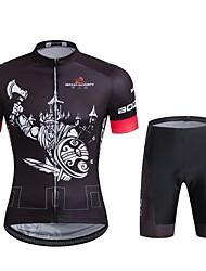 Sport Fahrradtriktot mit Fahrradhosen Unisex Kurze Ärmel FahhradAtmungsaktiv / Rasche Trocknung / Windundurchlässig / Anatomisches Design