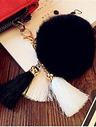 Ice Silk Tassel Key Chain Men 'S Bags Car Rex Rabbit Plush Pendant