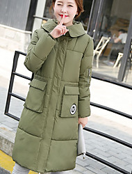 Sign 2016 winter new Korean version of the big yards thick loose cotton Girls long section of bread down padded jacket