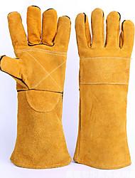 luvas de solda de alta temperatura industrial (Palm amarelo e amarelo)