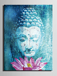 E-HOME® Stretched Canvas Art Buddha And Lotus Decoration Painting  One Pcs