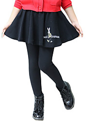 Girl's Casual/Daily Solid Dress / LeggingsCotton / Spandex Spring / Fall Black